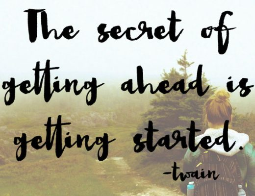 secret of getting ahead mark twain