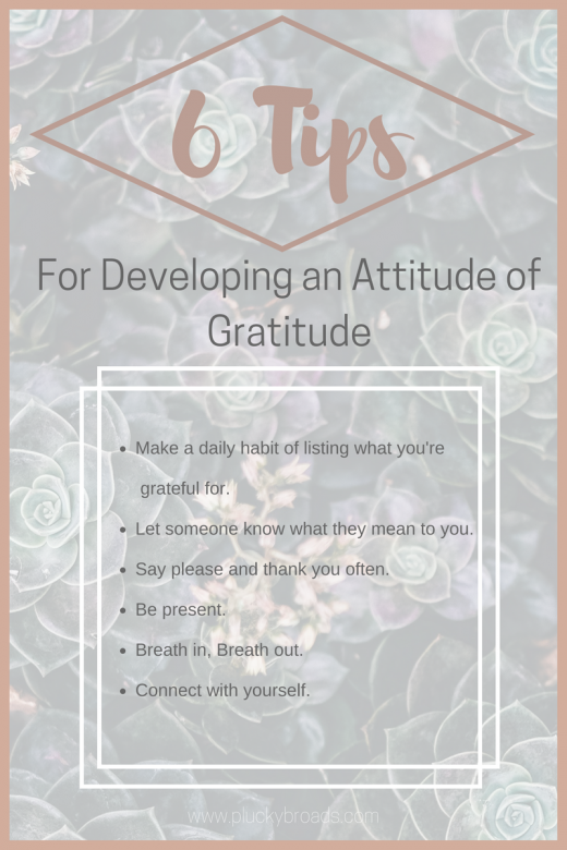 6 Tips for Developing an Attitude of Gratitude